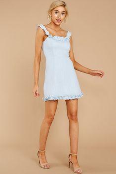 Got A Little Brighter Powder Blue Dress Sorority Dresses, Sorority Recruitment Outfits, Rush Dresses, Short Dresses, Preppy Dresses, Red Dress Outfit, Blue Dress Casual, Powder Blue Dress, Light Blue Dresses