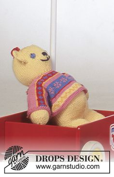 Beary Cute Friend / DROPS Baby 4-22 - Free knitting patterns by DROPS Design
