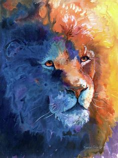 Color Lion Painting by Sherry Shipley - Color Lion Fine Art Prints and Posters…