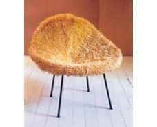 the kone chair with its fur on