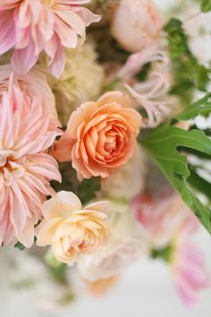 Close up of a Carding Mill garden rose, an Ambridge garden rose, and Café au Lait dahlias, by Floral Verde LLC, Cincinnati Ohio wedding flow...