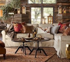 York Roll Arm Slipcovered Left arm Loveseat, Down Blend Wrapped Cushions, Twill Cream At Pottery Barn - Furniture - Sofa & Sectional Collections Decor, Living Room Decor, Furniture, Living Room, Sectional, Sectional Slipcover, Home, Beige Living Rooms, Family Room