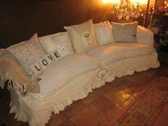 shabby chic sofa by dovesanddahlias on Etsy, $700.00