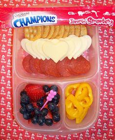Valentine's Day Lunchable in @Kelly Lester / EasyLunchboxes with @ChobaniChampions