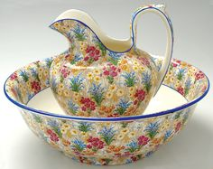 Royal Winton Chintz...love the days of washing with a jug and bowl, especially pretty ones like this
