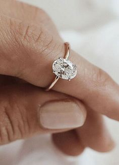 Simple engagement rings simple and minimalist oval diamond cut engagement ring tear silver rings white gold Beautiful Engagement Rings, Rose Gold Engagement Ring, Engagement Ring Settings, Diamond Wedding Bands, Oval Engagement, Diamond Rings, Tear Drop Wedding Ring, Oval Diamond, Solitaire Diamond