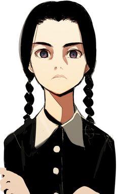 Excellent fan art from deviantart displaying 'Addams Family' Art Manga, Anime Art, Art Sketches, Art Drawings, Wednesday Addams, Cartoon Art, Art Inspo, Amazing Art, Character Art