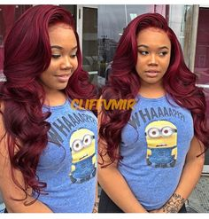 If you want to bring out the beauty of your crowning glory and emphasize your looks, it's really good that you start buying hair products such as hair color, Love Hair, Gorgeous Hair, Pretty Hair, Curly Hair Styles, Natural Hair Styles, Burgundy Hair, Ombre Burgundy, Thing 1, Hair Laid
