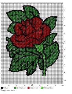 Plastic Rose Wall Hanging