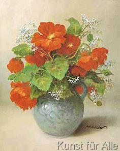 Max Weber - Blumenserie (28,0 x 30,0 cm)