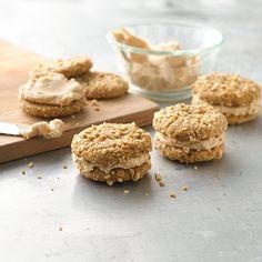 Salted Peanut Butter Sandwiches : A salty peanut butter buttercream sandwiched between two peanut butter cookies—yum