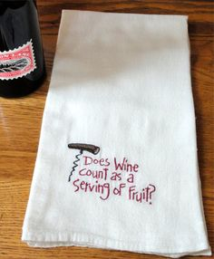 Machine Embroidery Flour Sack Towel Does by oldspoolembroidery, $6.00