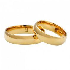 Klasyczne złote obrączki ślubne nr LA K24   Sklep jubilerski Sezam