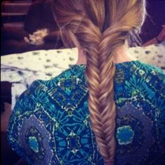 Fish tail braid :) gahh i wanna learn how to do this :)