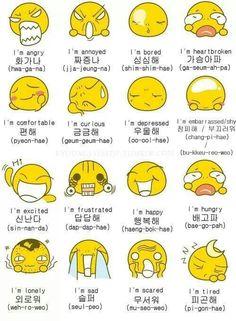 How to tell feelings in Korean.. Nice!