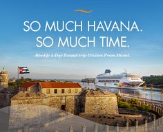 Weekly Cruises to Cuba from Miami on Norwegian Cruise Line. Call us to book your journey. #Norwegian, #Cuba