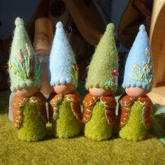 Primavera Gnome Waldorf inspirado juego de muñeca por paintingpixie