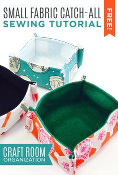 Small Fabric Catch-All for Treats or Craft Room Organization | Crafty Gemini Creates