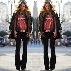 flared jeans street style - Google Search