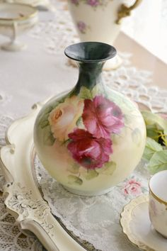 Stunning Antique Austrian Hand Painted Porcelain by Jenneliserose