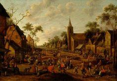 Joost Droochsloot, Village Fair, ca. 1655. Frans Hals Museum #franshalsmuseum #haarlem #art