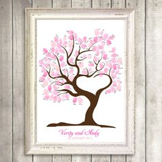 Items similar to tree of love fingerprint guest book printable wedding thumbprint tree baby shower tree heart shaped tree love romantic guestbook alternative on Etsy Wedding Tree Guest Book, Guest Book Tree, Tree Wedding, Wedding Gifts, Guest Books, Wedding Ideas, Wedding Book, Diy Wedding, Wedding Beauty