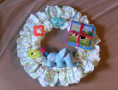 Diaper Wreaths for Baby Showers..super easy to make..just get creative