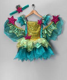 Teal Golden Wish Mermaid Dress-Up Set - Infant, Toddler & Kids