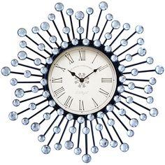 Clear Stone Starburst Wall Clock