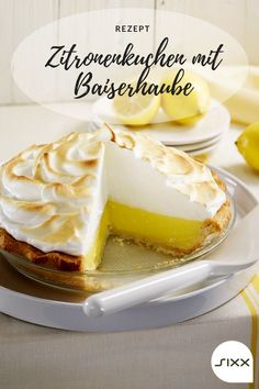 Lemon cake with a meringue topping - Recipe: Lemon cake with meringue topping – Sweet & Easy – Enie bakes – sixx - Cake Recipes Without Oven, Fall Cake Recipes, Cake Recipes From Scratch, Meringue Topping Recipe, Easy Vanilla Cake Recipe, Best Pumpkin Muffins, Pumpkin Muffin Recipes, Lemon Bar, Alas Tattoo