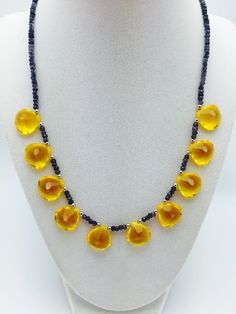 NOVEMBER precious gemstone necklace 1015nc