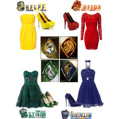 """""""Hogwarts House Dance!"""" by savvy-marie on Polyvore. Good thing I'm ravenclaw. I love their style!"""