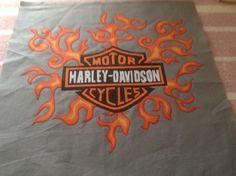 Harley quilt in progress