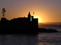Castillo Wulff con puesta de sol