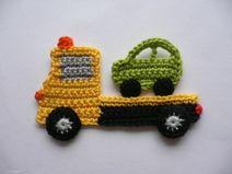 Abschleppwagen - Häkelapplikation