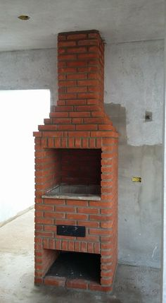 Argentine Grill, Brick Bbq, Diy Wood Shelves, Outdoor Oven, Stove Fireplace, Minka, Outdoor Living, Diy And Crafts, Backyard