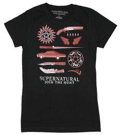 Supernatural Business Symbols Girls T-Shirt