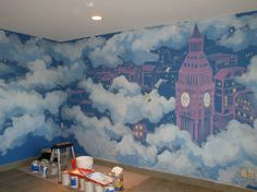 peter pan mural....@Brooke Williams Williams Van Name wanna paint this on my future kids' walls???? :)