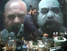 Eloy Morales in his studio