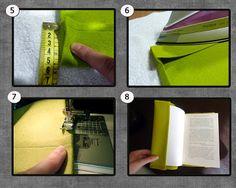 Zapaburu: Cómo hacer una funda para libros en fieltro