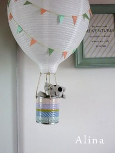 hot air balloon lamps tutorial...