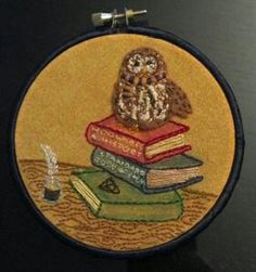 OTHPT3 Harry Potter owl embroidery hoop.