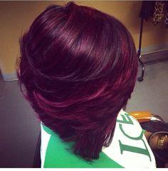 """Résultat de recherche d'images pour """"mèches violettes sur cheveux bruns"""""""
