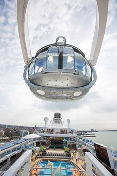 Gain a unique perspective on cruising. Anthem of the Seas' North Star will elevate you 300 ft above sea level.