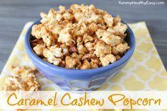 Yummy Healthy Easy | Quick & Easy Caramel Cashew Popcorn Snack #snack #popcorn #recipe