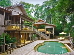 Barefoot luxury: Villas come with their own pools at the Soneva Kiri in Thailand which has its own Sleep Well programme Villa Design, House Design, Villas, Tree House Resort, Resort Plan, Thailand Vacation, Road Trip, Destinations, Wanderlust