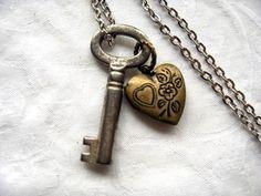 Skeleton key + locket