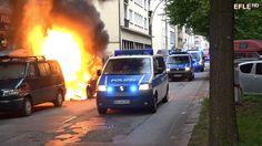 G20 Gipfel führt zu Bürgerkriegsartigen Szenen in Hamburg-Altona