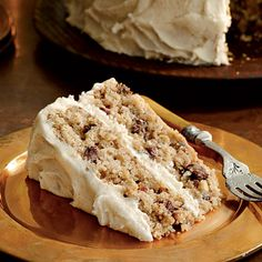 mocha apple cake with browned butter frosting...