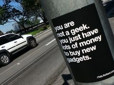 You are not a geek.